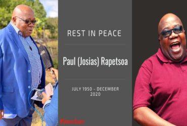 Mahuma Paul Rapetsoa passed away